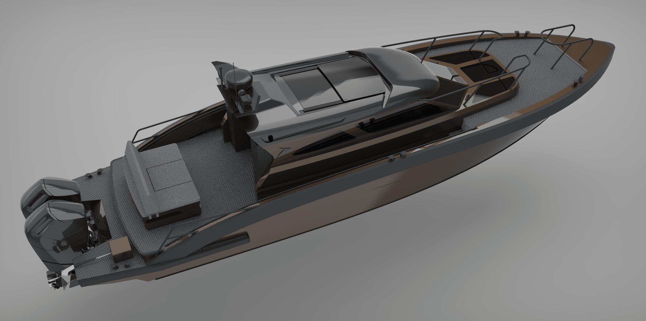 M12 custom rendered boat model