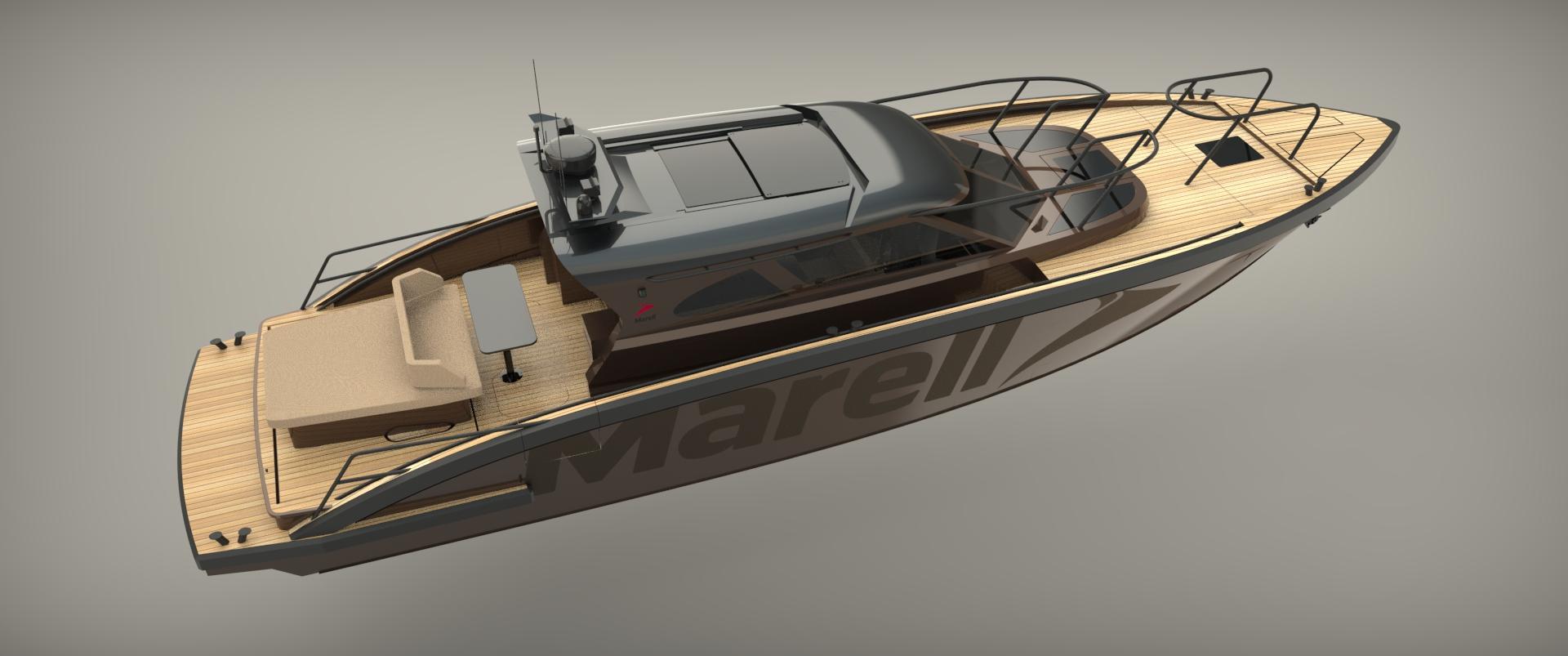 M15 custom rendered boat model