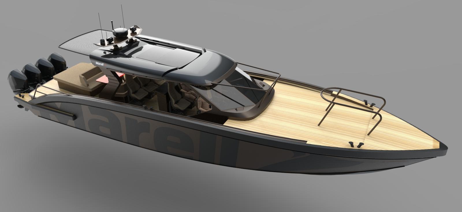 M15 tender rendered boat model