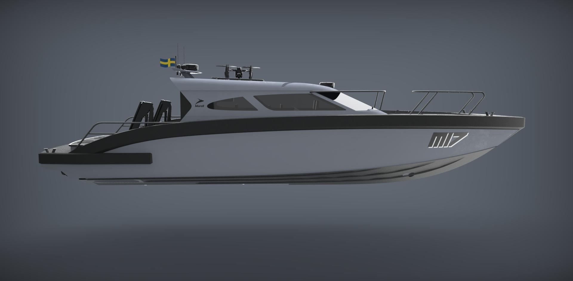 M17 patrol rendered boat model