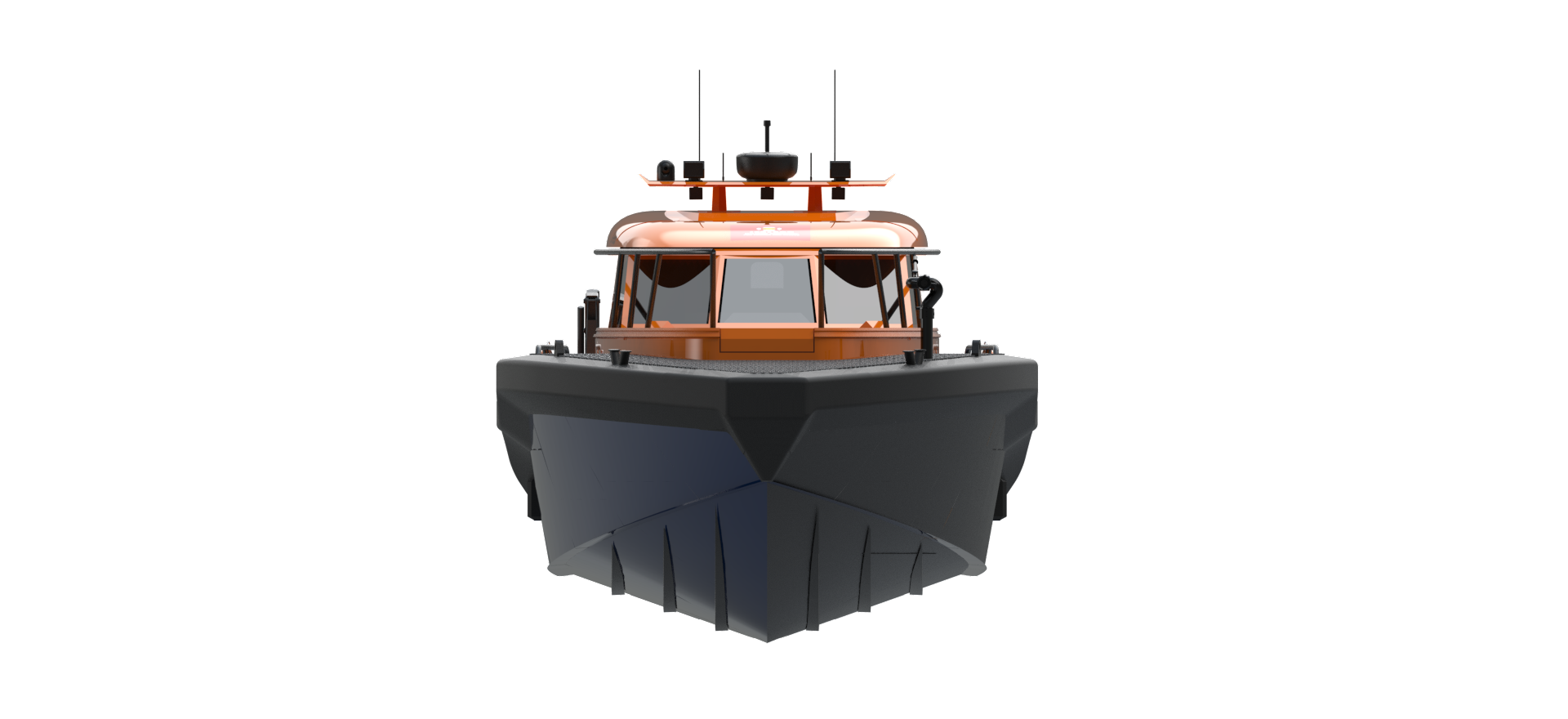 m17 SAR boat rendered model
