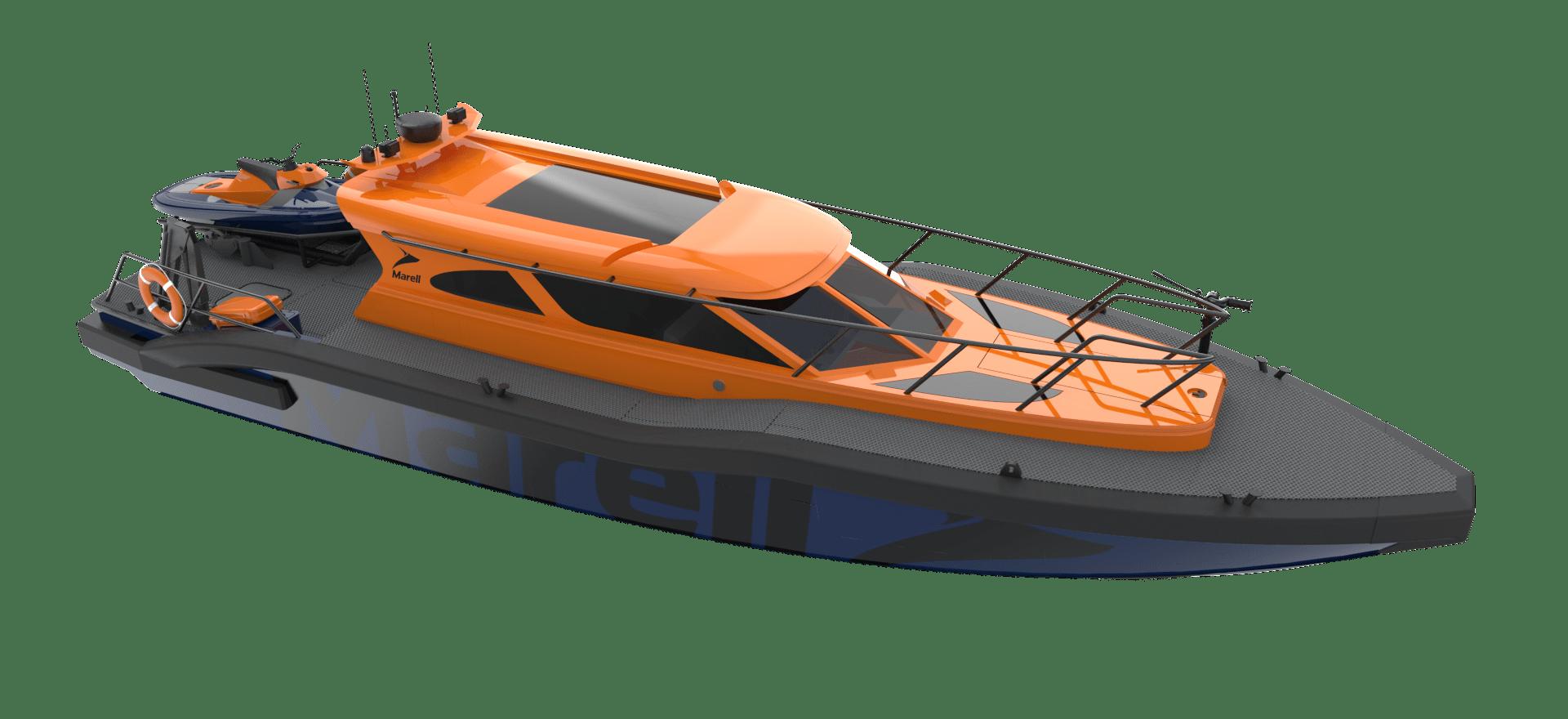 M17 SAR rendered boat model