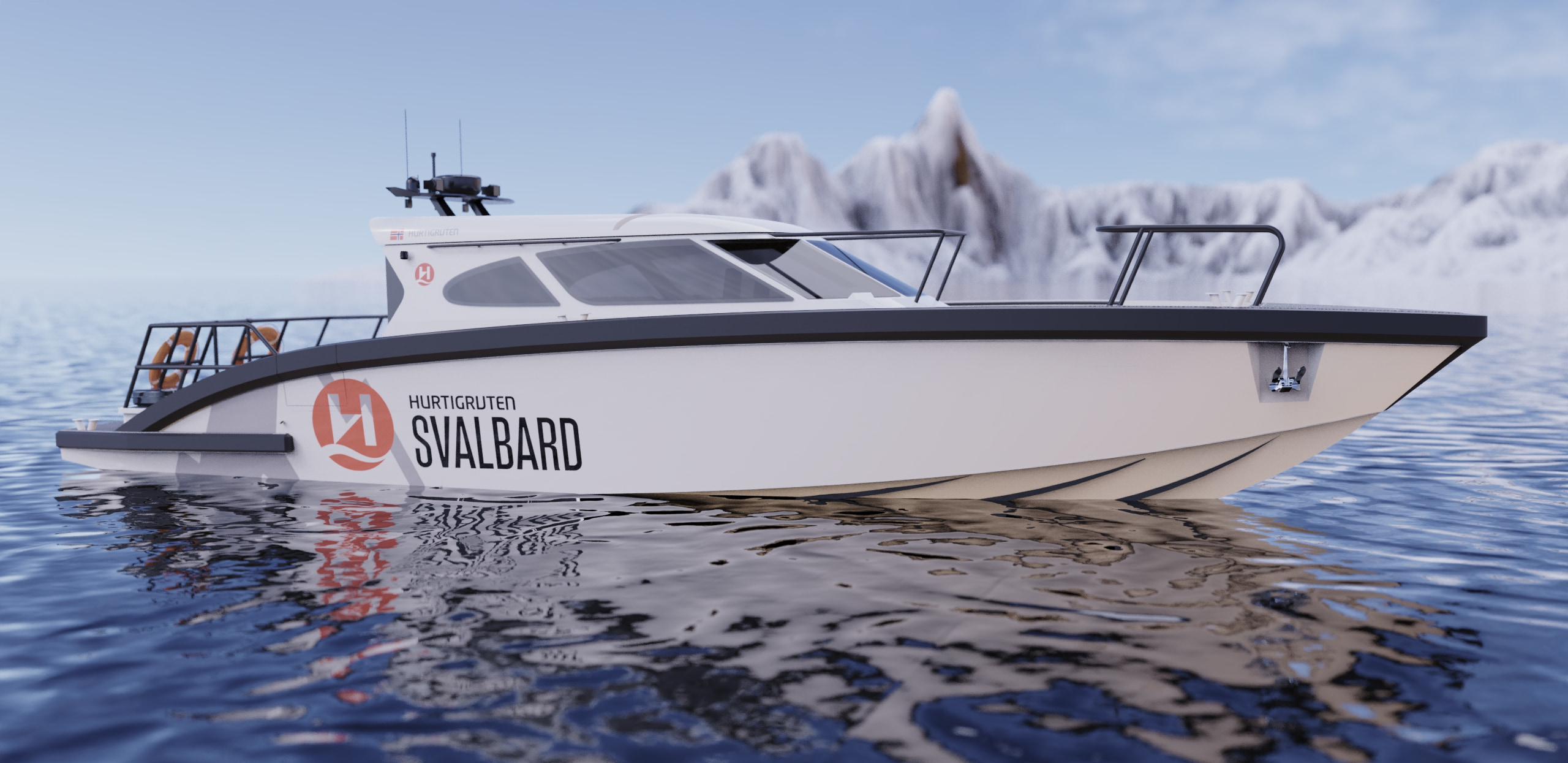 M9 Hurtigrutten rendered boat model