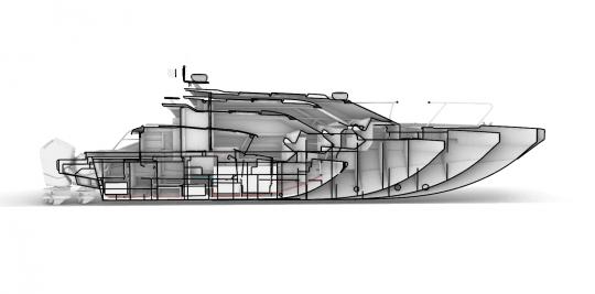 boat model interior