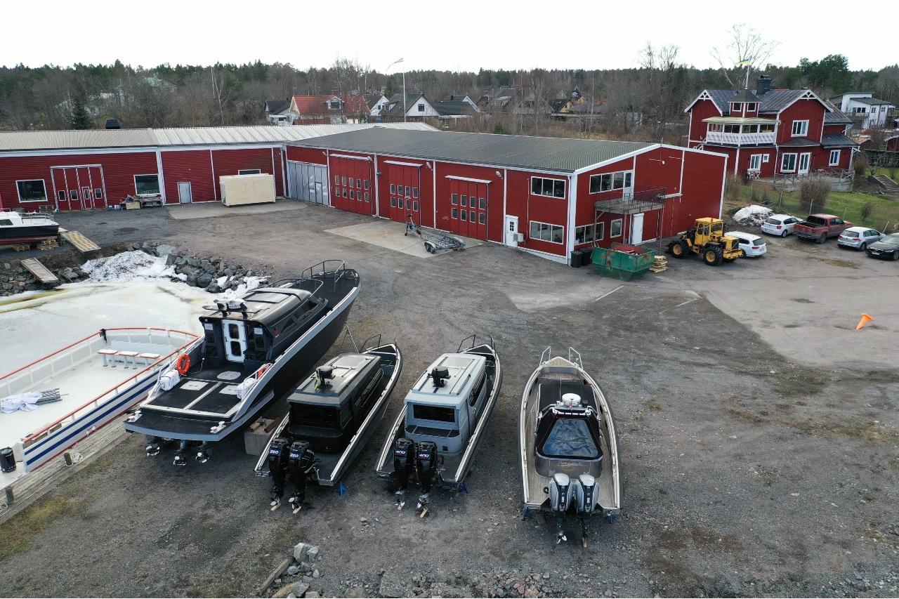 boats at warehouse