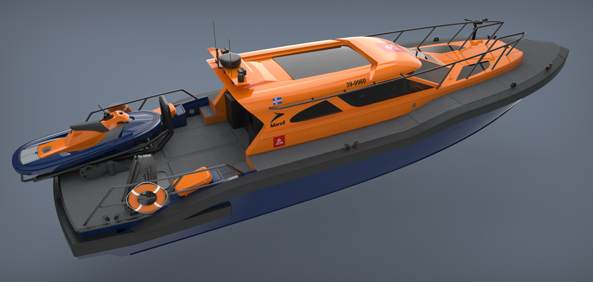 boat rendered model